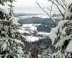 Blick vom Skilift oben