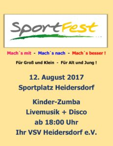 Sportfestabend - Kinderdisco & Liveband @ Sportfestabend - Livemusik | Heidersdorf | Sachsen | Deutschland