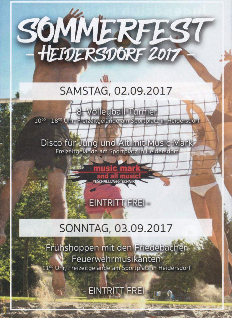 SOMMERFEST 2017 @ Freizeitgelände Sportplatz | Heidersdorf | Sachsen | Deutschland