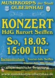Frühjahrskonzert Musikkorps der Stadt Olbernhau @ Haus des Gastes Seiffen