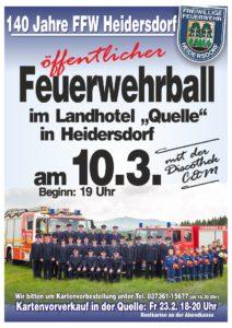 """Feuerwehrball Heidersdorf (öffentlich) @ Hotel """"Quelle"""""""