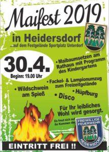 Maifest mit Hexenfeuer 2019 @ Festgelände an Turnhalle | Heidersdorf | Sachsen | Deutschland