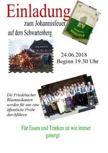 """""""Johannisfeuer"""" auf dem Schwartenberg @ Berggaststätte Schwartenberg"""