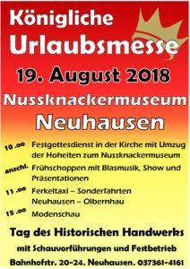 Königliche Urlaubsmesse zum Tag des historischen Handwerks @ Nussknackermuseum Neuhausen