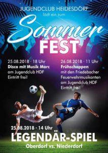 Sommerfest mit Fußball Niederdorf - Oberdorf @ Sportplatz Heidersdorf