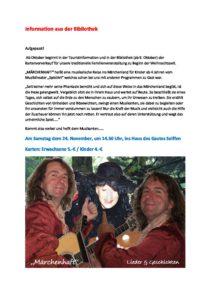 """""""MÄRCHENHAFT"""" - eine musikalische Reise ins Märchenland für Kinder ab 4 Jahren @ Haus des Gastes Seiffen"""