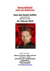 """Ronny Weiland """"Lieder vom Wolgastrand"""" @ Haus des Gastes Seiffen"""