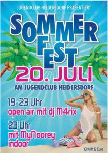 SOMMERFEST 2019 @ Jugendclub Heidersdorf