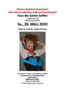 """""""Wir müssen reden! Sex, Geld und Erleuchtung II."""" Solokabarett @ Haus des Gastes"""