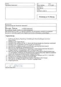 """Gemeinderatssitzung Heidersdorf mit Bürgerfragestunde - Einladung @ Landhotel """"Quelle"""""""