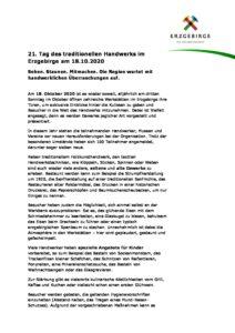 21. Tag des traditionellen Handwerks @ Sachsen _ Erzgebirge